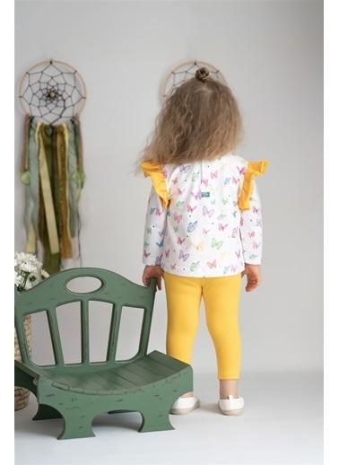 Nila Kids Butterfly Organik Kız Bebek Uzun Kollu Tişört Beyaz